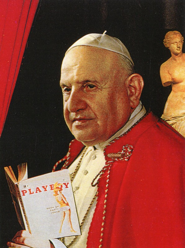 Pope John XXIII reading Playboy