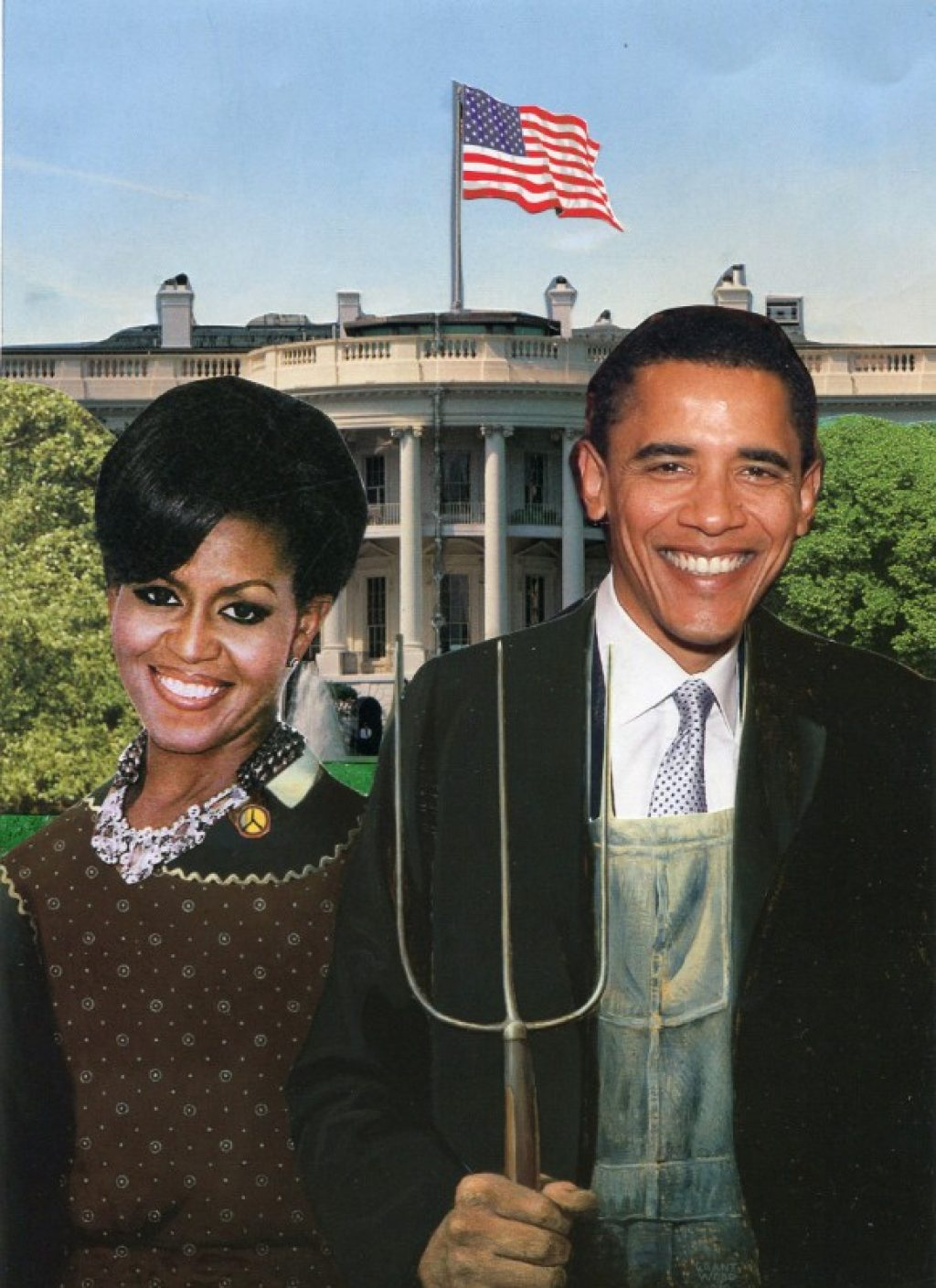 American Gothic (Obama & Michelle)