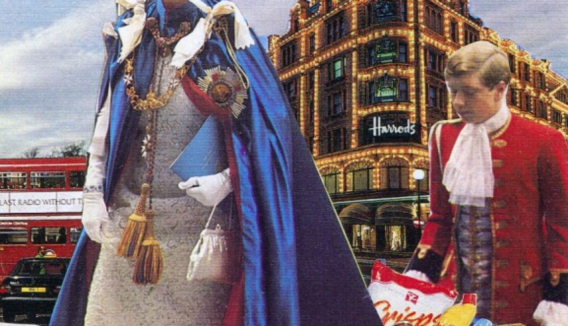 Queen outside Harrods