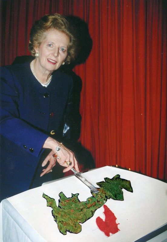 Thatcher cutting Britain