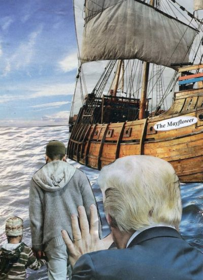 Oliver Dunne & Siobhán McCooey: Pocket President Trump: V Trump Immigration ('The Mayflower')